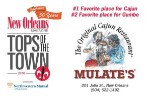 Mulate's Win's Tops of the Town 2017
